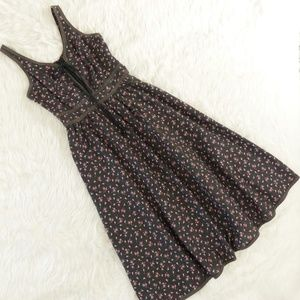 Vintage Gunne Sax Lace Up Prairie Dress